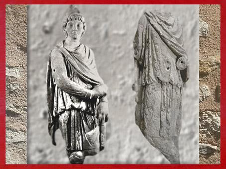D'après Cautopatès et Cautès, mithraeum de Bordeaux, IIe-IIIe siècle apjc, Gironde, France,Gaule Romaine. (Marsailly/Blogostelle)