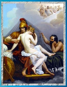 D'après Mars et Vénus piégés par Vulcain, d'Alexander Charles Guillemot 1827 apjc, XIXe siècle. (Marsailly/Blogostelle)