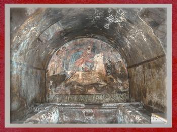 D'après le mithraeum souterrain de Capoue et l'image du Taurobole, IIe siècle apjc, Italie, époque Romaine. (Marsailly/Blogostelle)