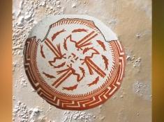D'après une coupe à décor tournoyant, terre cuite, Samarra, vers 5000 avjc, Tell es-Sawwan, Irak. (Marsailly/Blogostelle)