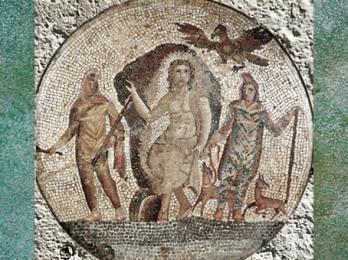 D'après Mithra sur une mosaïque, possible provenance d'Égypte, Ier siècle apjc, époque Romaine. (Marsailly/Blogostelle)
