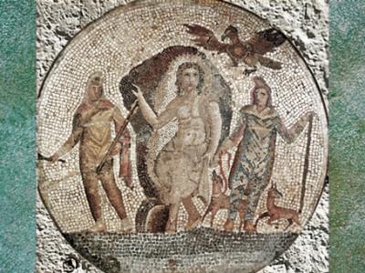 D'après Mithra surune mosaïque,possible provenance d'Égypte,Ier siècle apjc, époque Romaine. (Marsailly/Blogostelle)