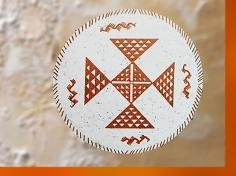 D'après une coupe à motifs géométriques, terre cuite, Samarra, vers 5000 avjc, Tell es-Sawwan, Irak actuel, Mésopotamie néolithique. (Marsailly/Blogostelle)