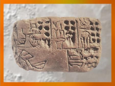 D'après des pictogrammes incisés au calame dans la terre crue, vers 3300 avjc, Mésopotamie. (Marsailly/Blogostelle)