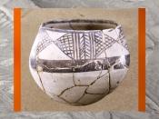 D'après une poterie de l'époque d'Obeid, vers 4700 - 4200 avjc, Irak actuel, Mésopotamie. (Marsailly/Blogostelle.)