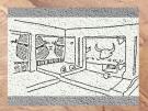 D'après l'intérieur d'une maison, peintures et sculptures, VIe millénaire avjc, çatal Hüyük, Anatolie, Levant. (Marsailly/Blogostelle.)