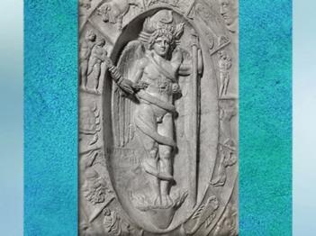 D'après Phanès, dieu orphique, IIe siècle apjc, Modène, Italie, époque Romaine. (Marsailly/Blogostelle)