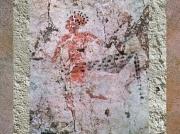 D'après un chasseur à peau de léopard, peinture, VIe millénaire avjc, Çatal Hüyük, Anatolie (Turquie), Levant. (Marsailly/Blogostelle.)