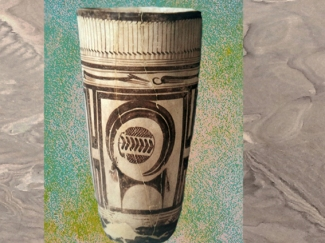 D'après un boisseau, céramique peinte, animaux stylisés, vers 4000 ans avjc, Suse, Iran actuel,néolithique, Orient ancien. (Marsailly/Blogostelle)