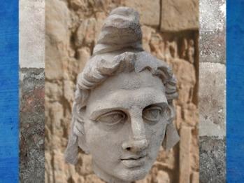 D'après un portrait supposé de Mithra coiffé du bonnet phrygien, marbre italien, Arles, France, Gaule Romaine. (Marsailly/Blogostelle)