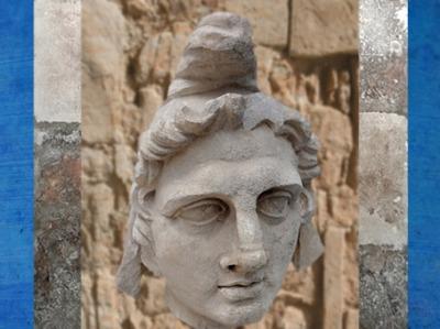 D'après un portrait supposé de Mithracoiffé du bonnet phrygien, marbre italien, Arles, France, Gaule Romaine. (Marsailly/Blogostelle)