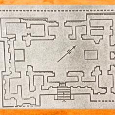 D'après le plan du temple d'Eridu, période d'Obeid, vers 4000 ans avjc, Irak actuel, Mésopotamie néolithique. (Marsailly/Blogostelle)