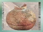 D'après une poterie peinte, style de Halaf, 5000-4000 ans avjc, Mésopotamie, Irak. (Marsailly/Blogostelle.)