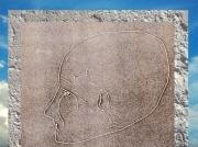 D'après le dessin d'un crâne surmodelé, Jéricho, époque néolithique, Levant. (Marsailly/Blogostelle)