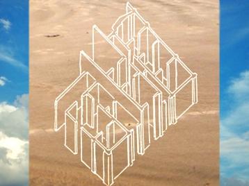 D'après le schéma d'une maison de Samarra, vers 5500 avjc, Tell es-Sawwan, Irak actuel, Mésopotamie. (Marsailly/Blogostelle)