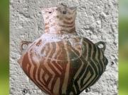 D'après une terre cuite peinte, Hacilar, vers 5000 ans avjc, Turquie, Levant. (Marsailly/Blogostelle.)