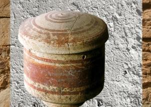 D'après une terre cuite peinte, fin IVe millénaire avjc, Ugarit, actuel Ras Shamra, Syrie, Mésopotamie néolithique. (Marsailly/Blogostelle)