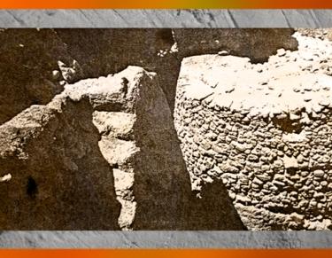 D'après des vestiges, tour de fortification, Jéricho, VIIIe millénaire avjc, Jordanie, Levant Néolithique. (Marsailly/Blogostelle)
