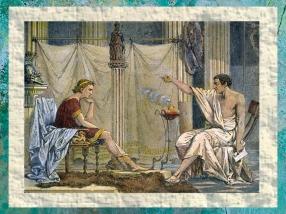D'après Aristote le professeur et son élève Alexandre, par l'illustrateur Charles Laplante, 1866 apjc, France. (Marsailly/Blogostelle)