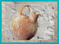 D'après une poterie peinte du Levant néolithique, IVe millénaire avjc, Israël. (Marsailly/Blogostelle.)