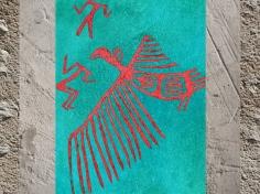 D'après un Vautour rouge, peinture, vers 7000-6000 avjc, Çatal Hüyük, Anatolie Levant Néolithique. (Marsailly/Blogostelle)