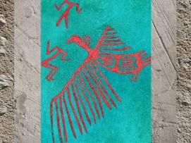 D'après le Vautour rouge de Çatalhöyük, vers 7000-6000 avjc, Anatolie, Levant. (Marsailly/Blogostelle)