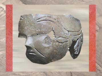 D'après une céramique, Çatal Hüyük, 7000-6000 avjc, Anatolie, D'après une maison, Çatal Hüyük , Anatolie, Turquie, Levant néolithique. (Marsailly/Blogostelle)