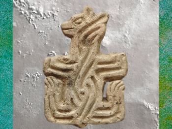 D'après un sceau, terre cuite, Çatal Höyük, vers 7000-6000 avjc, Anatolie (actuelle Turquie),Levant néolithique. (Marsailly/Blogostelle)