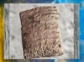 D'après un contrat en akkadien, location d'un champ, règne d'Abi-eshuh, vers 1711-1684 avjc, Babylone. (Marsailly/Blogostelle)