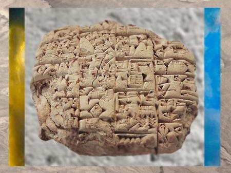 D'après un texte sumérien, le prêtre Lu'enna annonce au roi de Lagash la mort de son fils, vers 2400 avjc, Mésopotamie. (Marsailly/Blogostelle)