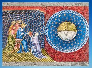 D'après Du ciel et du Monde, Aristote, par Nicolaus Oresmius, manuscrit vers 1410 apjc. (Marsailly/Blogostelle.)