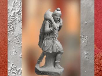 D'après Mithra portant le Taureau, mithraeum de Sidon, IVe siècle apjc, hénicie, Liban, époque Romaine. (Marsailly/Blogostelle)