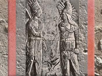 D'après Mithra et Antiochos Ier de Commagène, relief, Ier siècle avjc, Mont Nemrut, Turquie, époque Romaine. (Marsailly/Blogostelle)