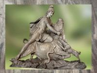 D'après un groupe sculpté, Mithra immole le Taureau, Vatican, Italie. (Marsailly/Blogostelle)