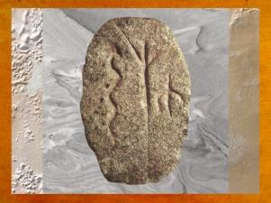 D'après un galet gravé, serpent, arbre et glype (un être humain), Gobleki Tepe, vers 9000 ans avjc, Anatolie, Levant néolithique. (Marsailly/Blogostelle