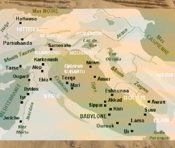 D'après une carte de la Mésopotamie. (Marsailly/Blogostelle)