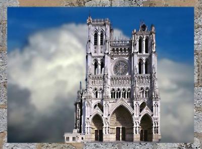 D'après la cathédrale d'Amiens, 1270 apjc, art Gothique, France. (Marsailly/Blogostelle)