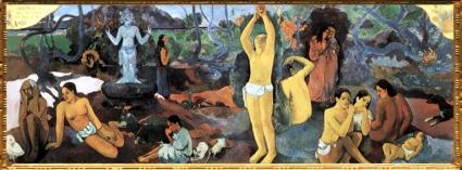 D'après D'où venons-nous, Que sommes-nous, Où allons-nous, Paul Gauguin,vers 1897-1898 apjc, fin du XIXe siècle apjc. (Marsailly/Blogostelle)