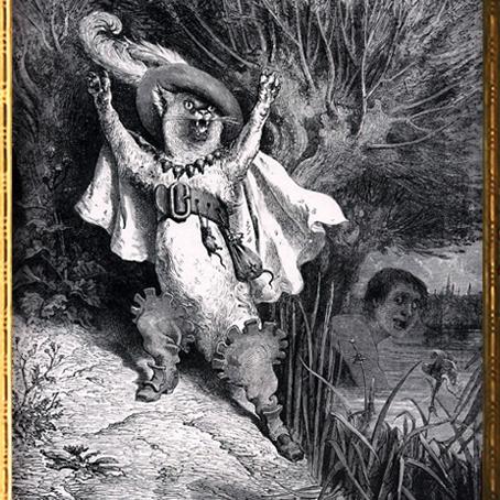 D'après Le Chat Botté de Charles Perrault illustration de Gustave Doré, (1832- 1883), XIXe siècle. (Marsailly/Blogostelle)