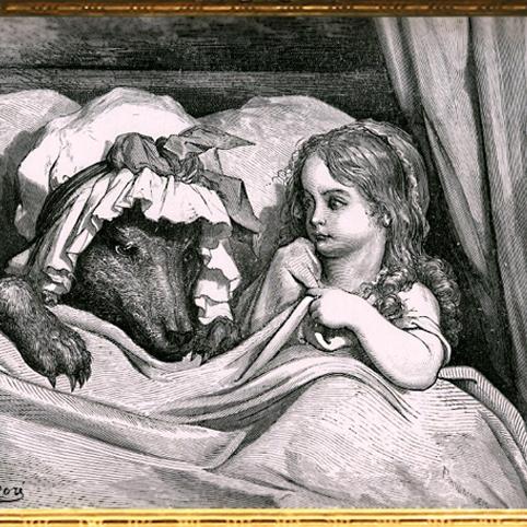 D'après Le Petit Chaperon Rouge, de Charles Perrault, illustration de Gustave Doré (1832-1883), XIXe siècle. (Marsailly/Blogostelle)