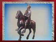 D'après Charlemagne, bronze (dorure à l'origine), IXe siècle apjc, art Carolingien. (Marsailly/Blogostelle)