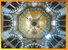D'après la voûte de la Chapelle Palatine, 792-805 apjc, Aix la Chapelle, règne de Charlemagne. (Marsailly/Blogostelle)