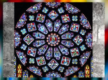 D'après la Rosace de la cathédrale de Chartres, XIIe - XIIIe siècle apjc, art Gothique, France. (Marsailly/Blogostelle)