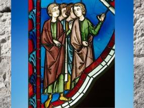 D'après un vitrail de la Sainte Chapelle, XIIIe siècle apjc, Paris, art Gothique. (Marsailly/Blogostelle)