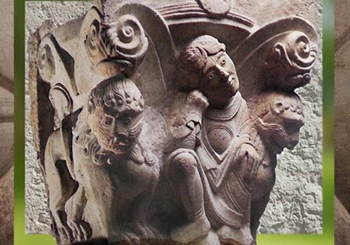 D'après un chapiteau en marbre, Daniel et les Lions, XIe siècle apjc, art Roman, France. (Marsailly/Blogostelle