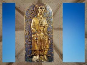 D'après Saint Matthieu, cuivre doré et émail champlevé, vers 1230 apjc, Limoges, art Gothique Limousin. (Marsailly/Blogostelle)