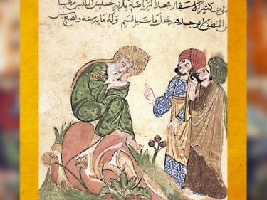 D'après le maître Sufi, manuscrit arabe des Mille et une Nuits, XIIIe siècle, copie XVIIe siècle, art Musulman. (Marsailly/Blogostelle)