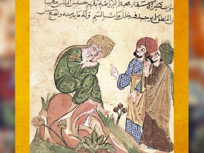D'après le Maitre Sufi, manuscrit arabe des Mille et une Nuits, XIIIe sècle, copie XVIIe siècle. (Marsailly/Blogostelle)