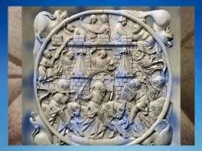 D'après le thème du du château d'Amour, ivoire, XIVe siècle, art Courtois médiéval, France. (Marsailly/Blogostelle)