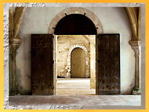 D'après l'abbaye de Fontenay, vue intérieure, 1147 apjc, Bourgogne, France, XIIe siècle,ordre cistercien, époque Romane. (Marsailly/Blogostelle)